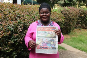 Aidah Nannyunju with her feature story